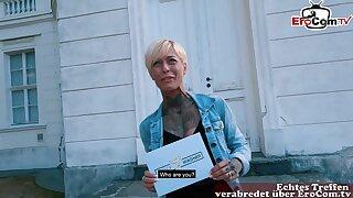 Skinny german tattoo milf at public flirt date fuck story